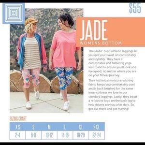 LuLaRoe Pants - 🆕 LuLaRoe Jade Capri Workout Leggings, S, M, & L